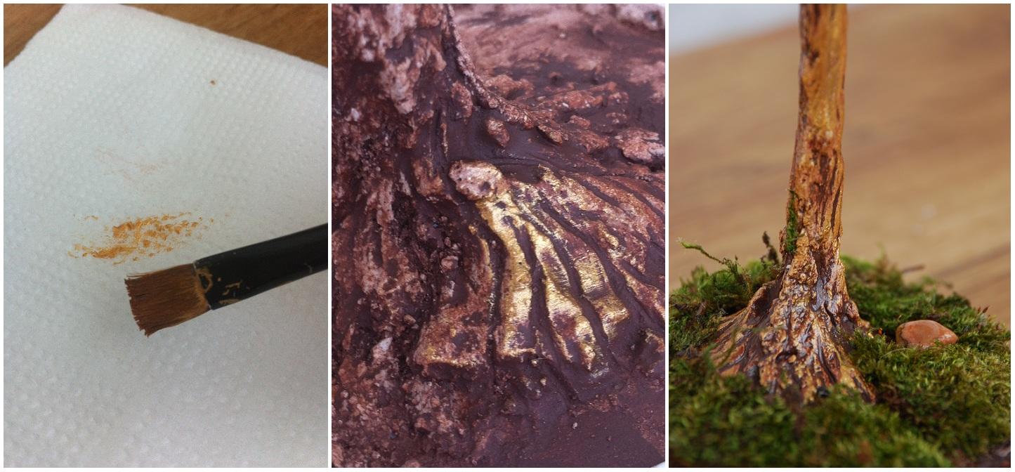Как сделать кору для бисерного дерева