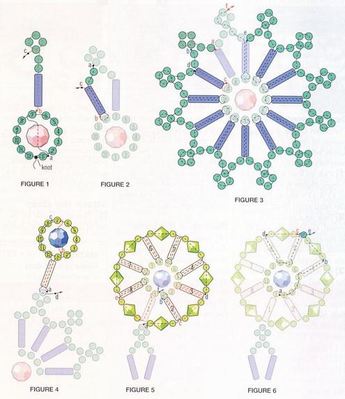 Схема плетения колье из цветочков