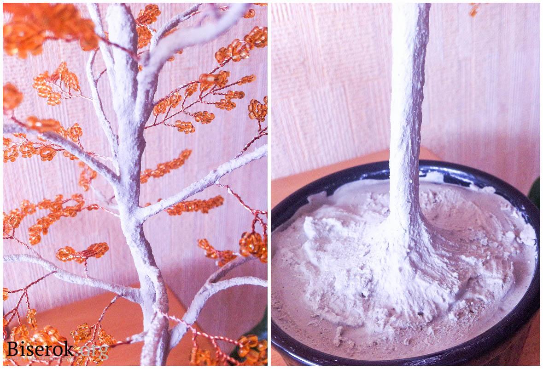 Как из бисера и гипса сделать дерево из 592