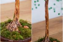 Гипсовый ствол бисерного дерева
