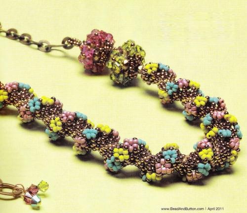 Плетение цветов из мелкого бисера схемы.
