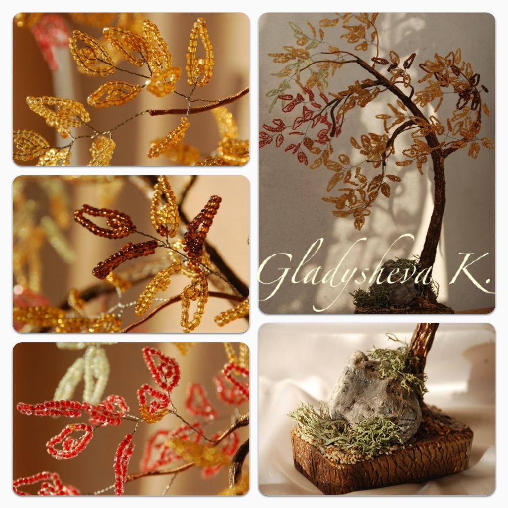 """Мастер-класс осеннее дерево  """"На ветру """".  Где деревья в сентябре На заре стоят попарно, И закат на их коре Оставляет..."""