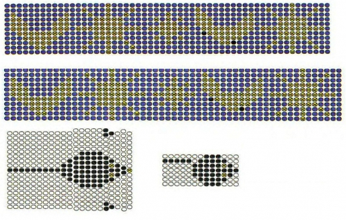 Узоры плетения браслетов из бисера