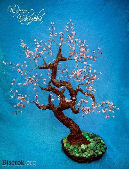 """Дерево  """"Сакура """", сделанное своими руками Такое прекрасное явление как цветущая сакура не могла не затронуть моё..."""