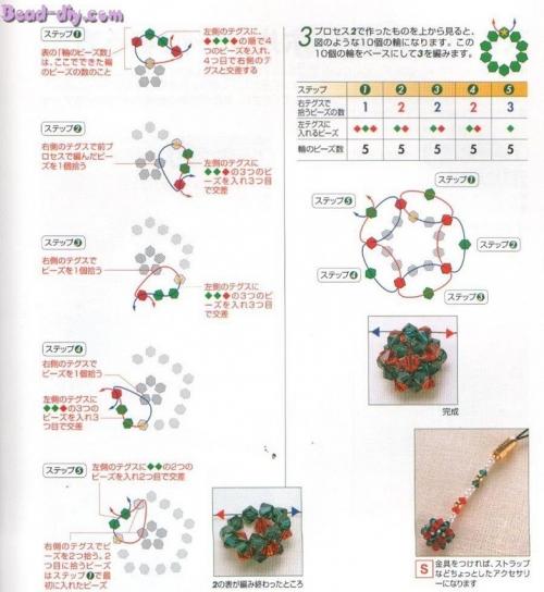 Как плести шарики, фуллерены из бисера. кристаллы нужных цветов или бусинки диаметром 4-5 мм - леска...