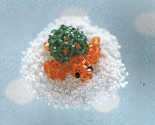 Черепаха из кристаллов