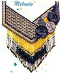 Мозаичное плетение колье
