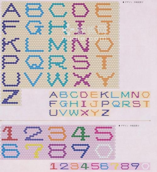 Как сплести буквы и цифры