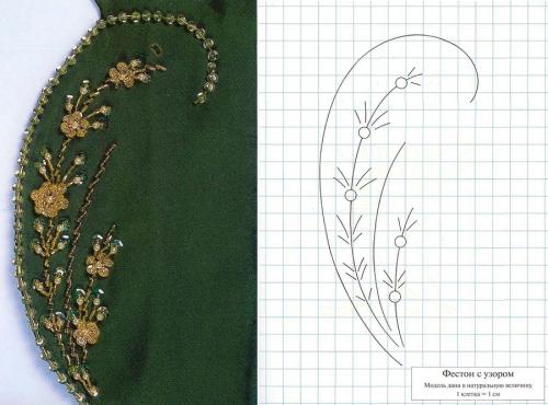 Узоры для вышивки жемчугом и бисером схемы 97