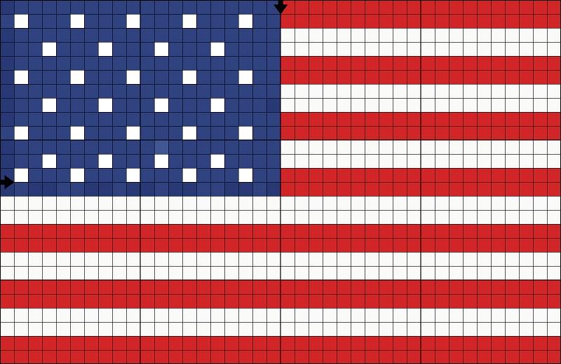 Английский флаг вышивка 5