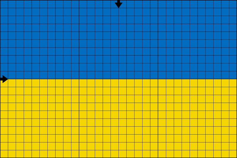 флаг Вышивка по схеме