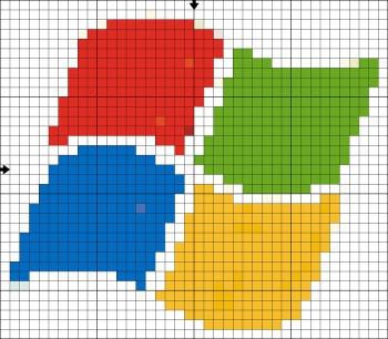 Схема вышивки Windows