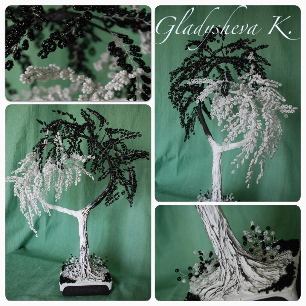 """Дерево в стиле  """"Инь-Янь """" классическое Высота 50 см. Добрый день, милые рукодельницы, еще древнекитайские философы..."""
