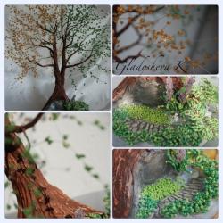 дерево в стиле Инь-Янь