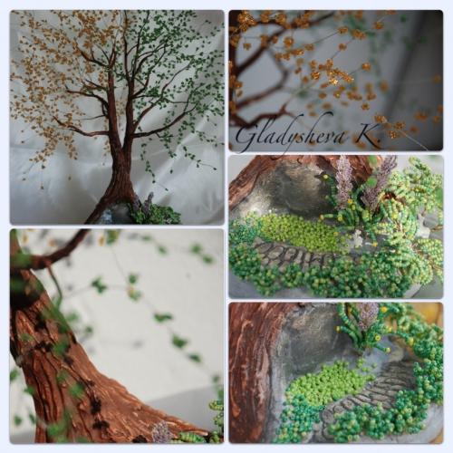 ...в продолжение темы Инь - Ян хотелось бы Вам представить еще один мастер-класс по созданию бисерного дерева в...