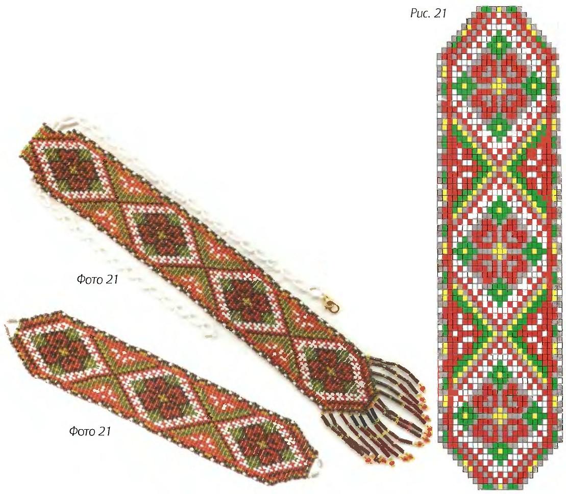 """Набор  """"Карпатский """" в технике гердан.  Гердан от Anabel.  Шесть схем для ткачества бисером."""