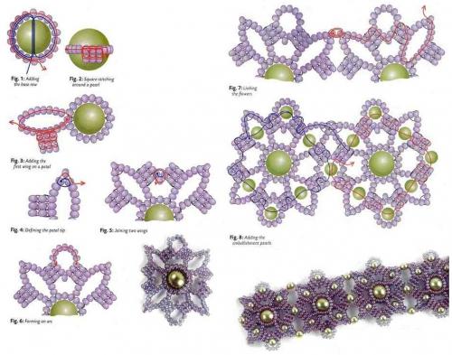Схема плетения колье