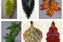 Разные виды листиков из бисера