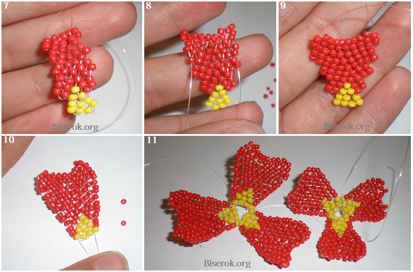 бисер маки ажурное плетение схема