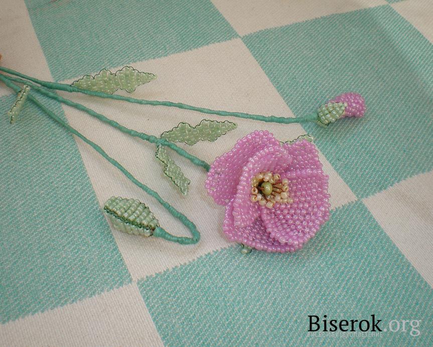 бутон цветка из бисера - Сайт о бисере.