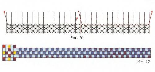 Схема плетения тканого гердана