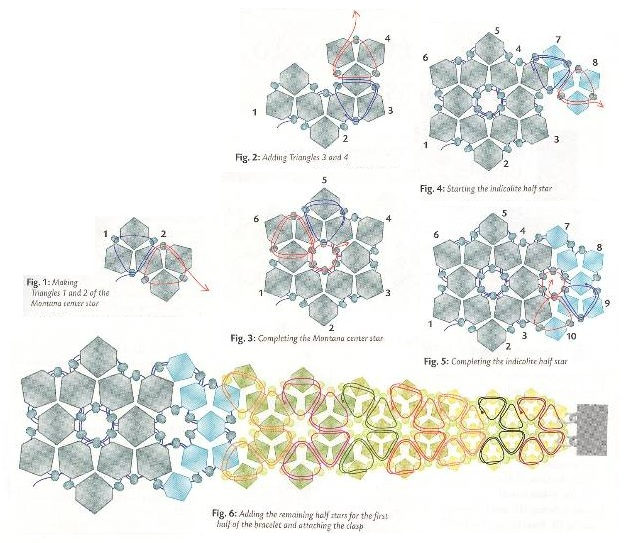 Плетение кристаллами схема