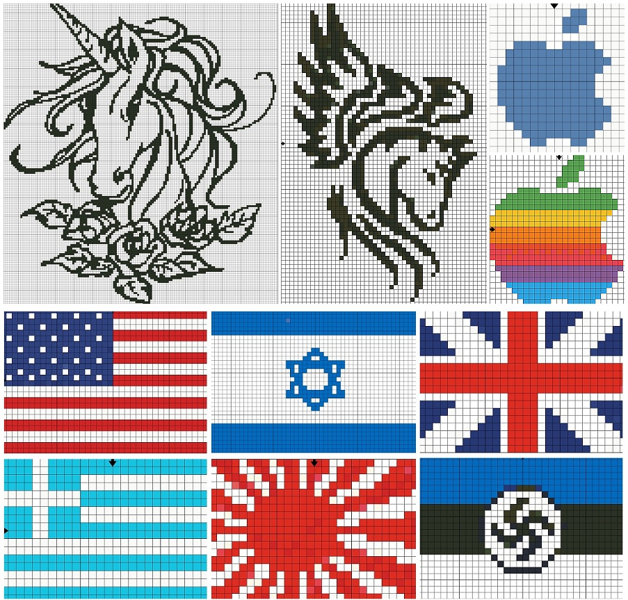 Английский флаг вышивка 81