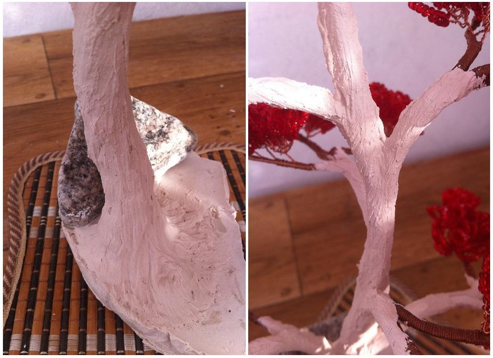 Как сделать ствол дерева из салфеток