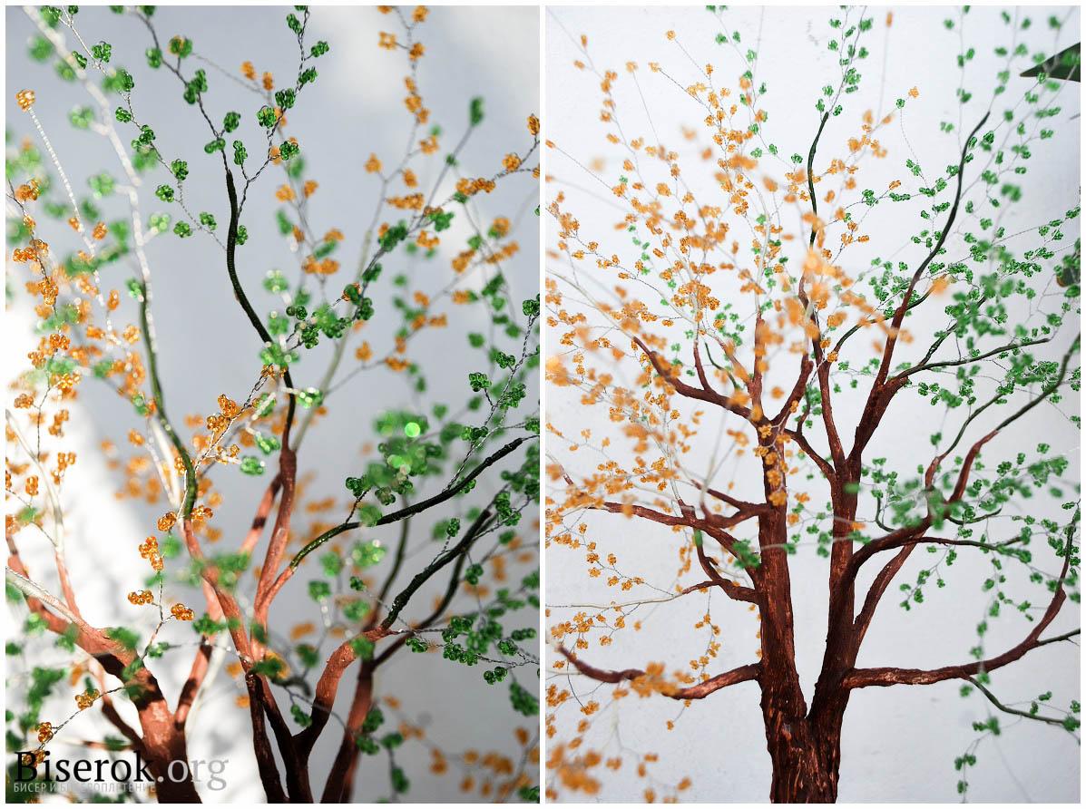Как сделать ветки для бисерного дерева