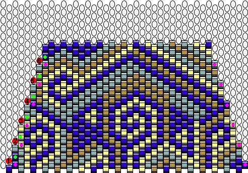 Схема плетения стенки