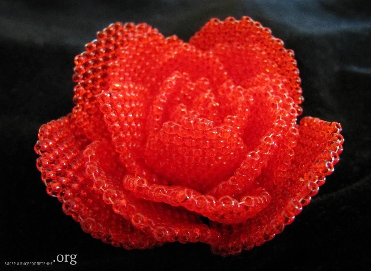 Изображение Роза из бисера из коллекции бисерные цветы на сайте Пинми.ру. бисерные цветы.