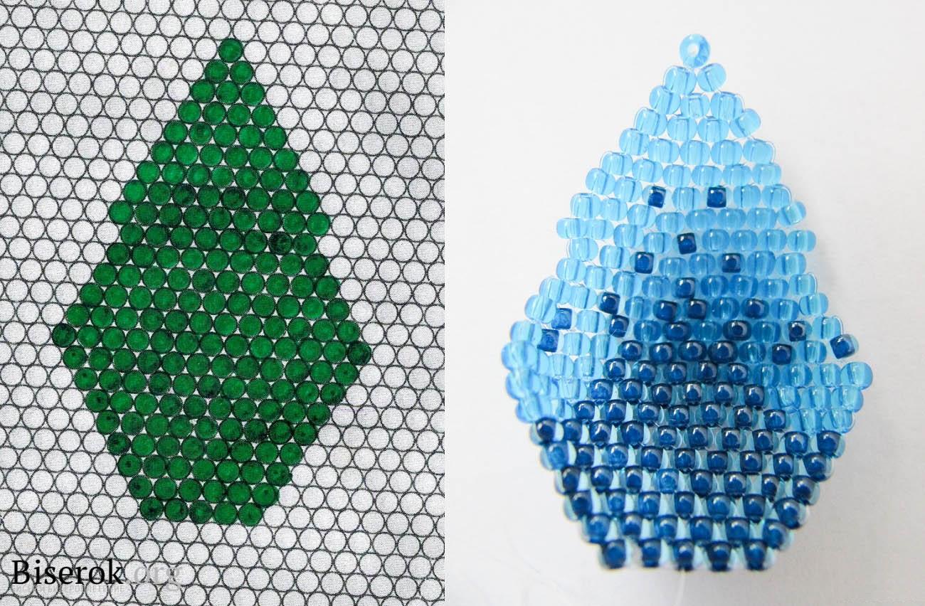 кувшинка из бисера схема плетения