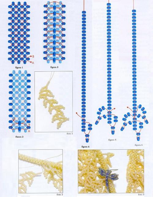 Как плетется колье из бисера