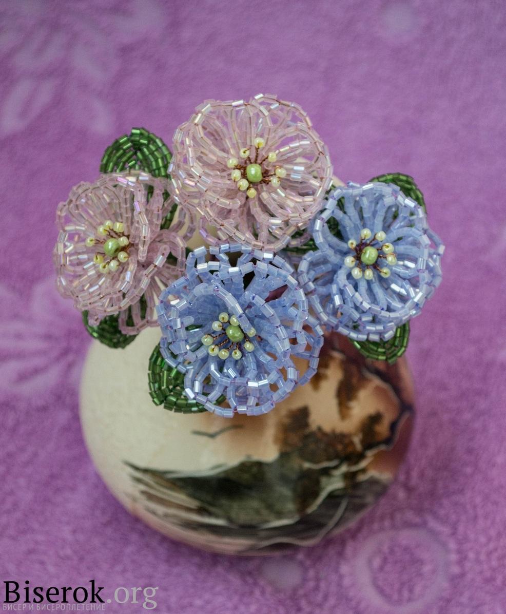 Необходимый материал для плетения цветка. рубка выбранного вами цвета - желтый перламутровый бисер 10...