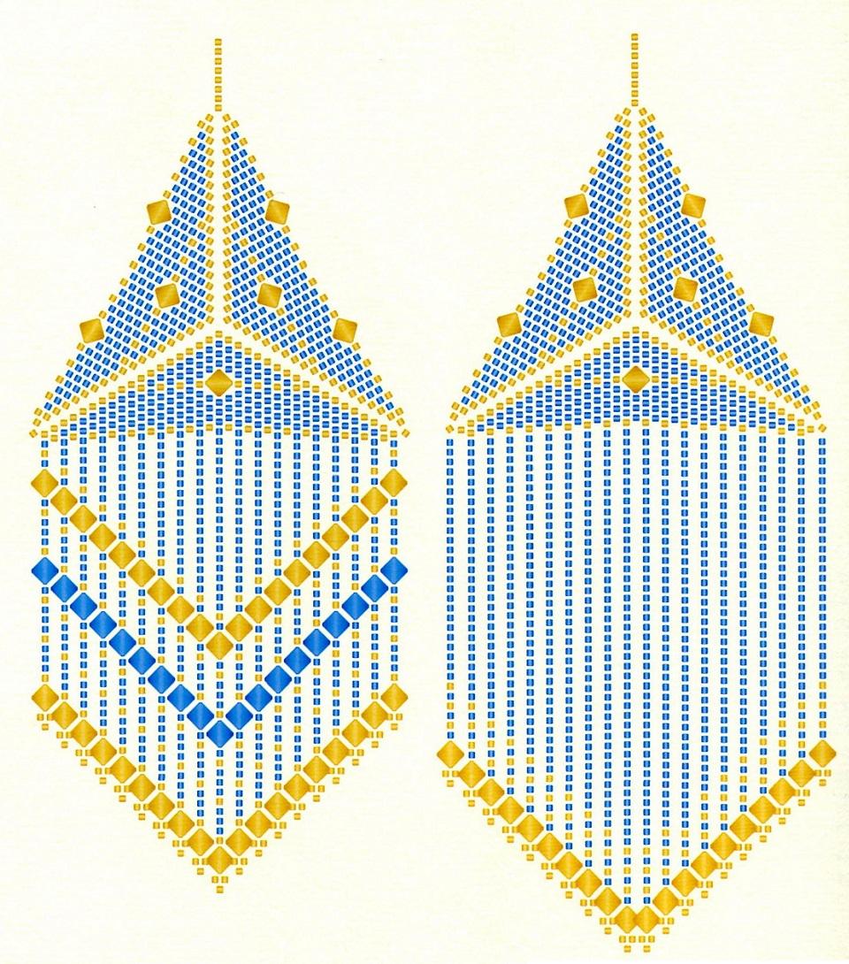 Треугольный бисер схемы