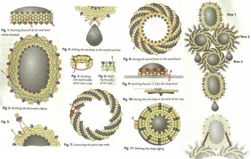 Плетение схема украшение из бисера