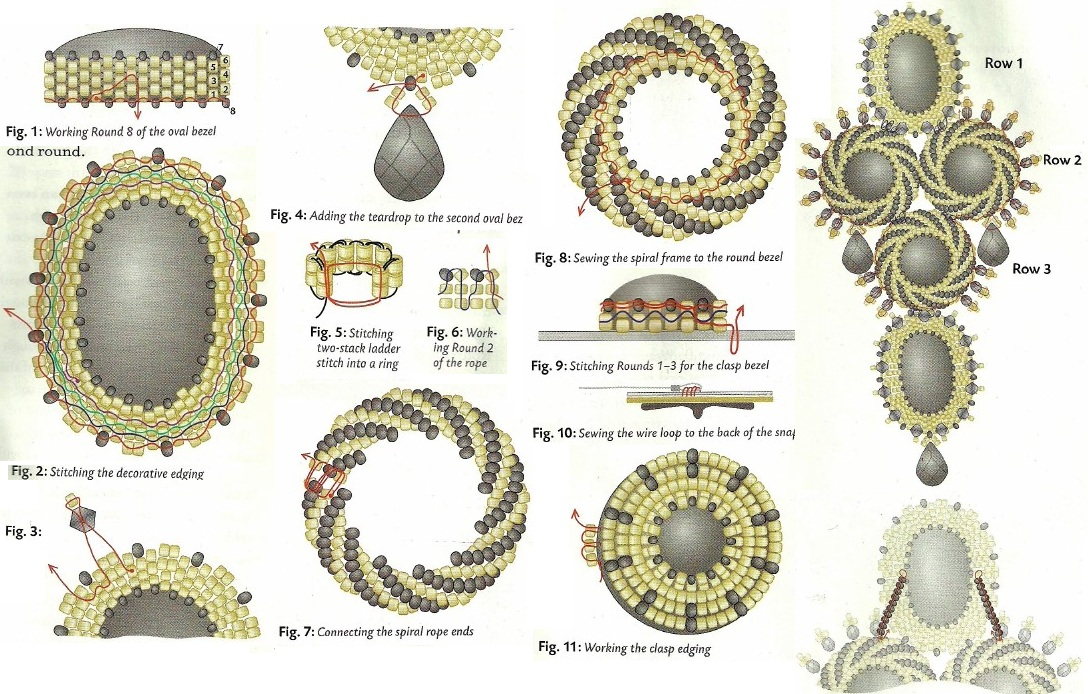 Плетение схема украшение из