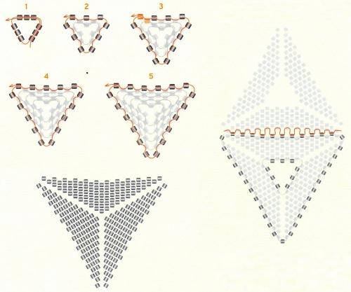 Схема плетения треугольника