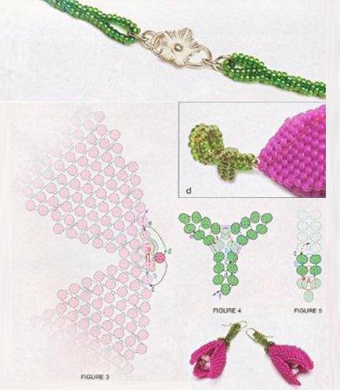 Плетение жгута и тюльпанов