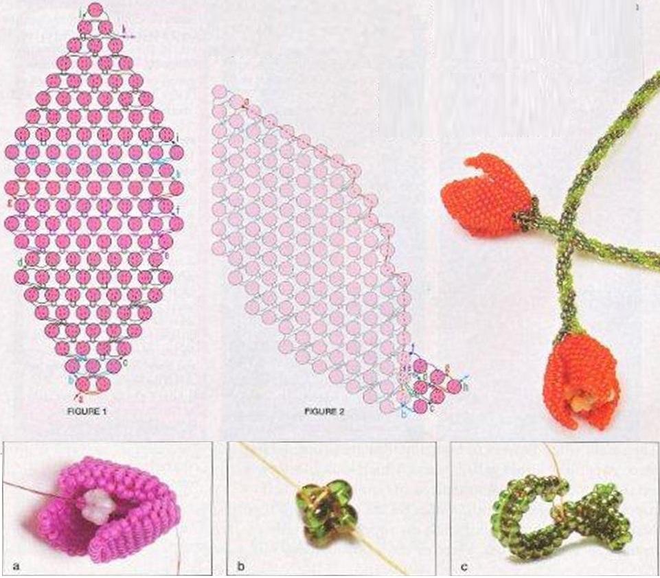 Схемы бисера тюльпаны