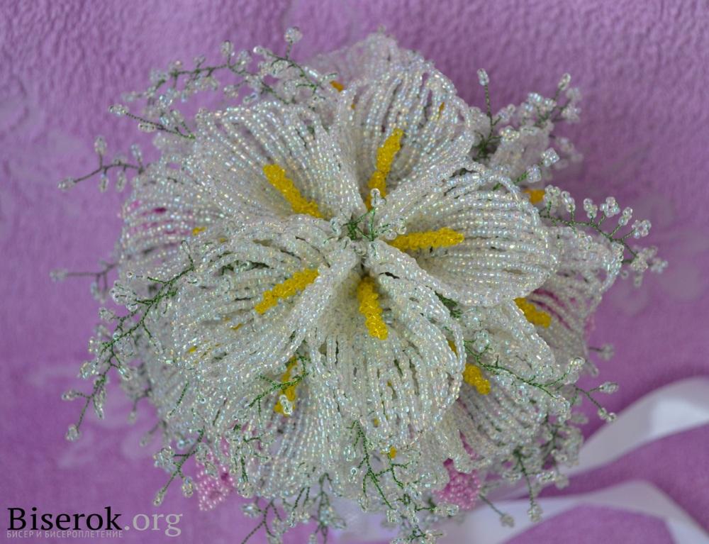 цветы каллы из бисера