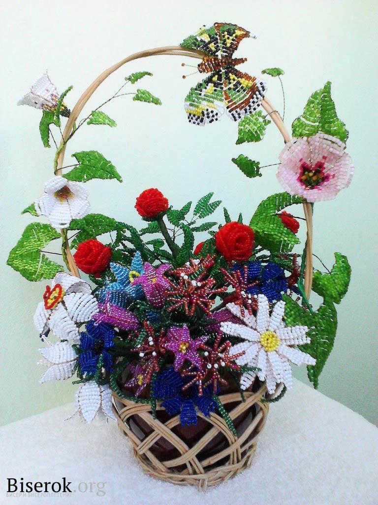 Цветы из бисера своими руками пошагово фото 625