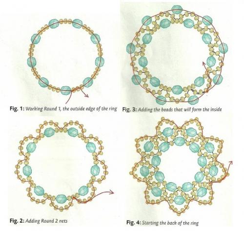 схема плетения колец