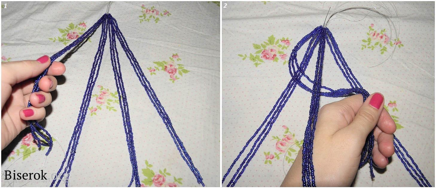 плетение бисером схемы браслет бусы
