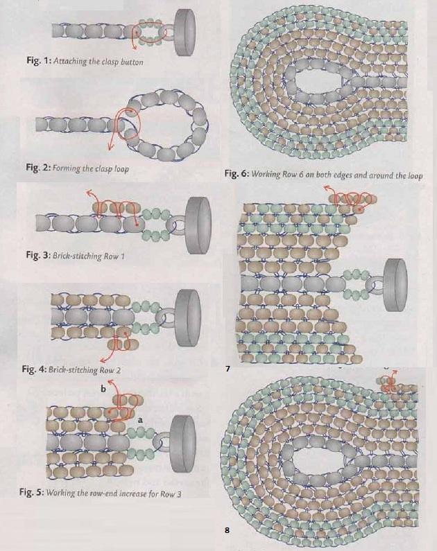 ...резинкой 1=1. Горловина украшена воротником, выполненным по схеме ажурной вязки спицами с применением бисера разных.