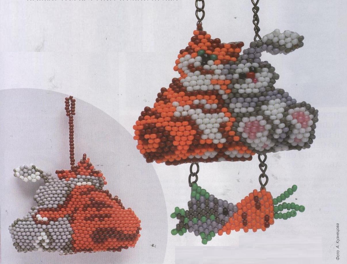 Кот из бисера схема плетения фото 306
