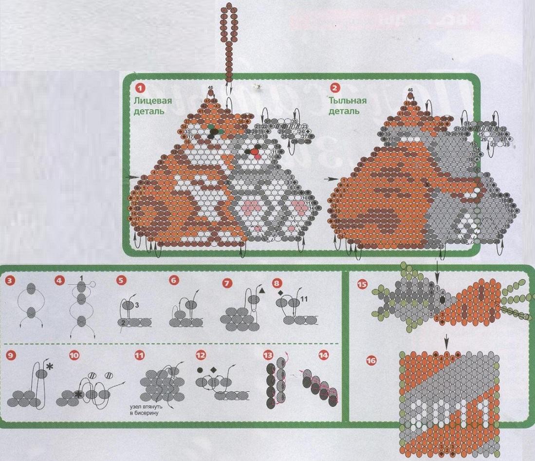 схемы животных в технике оригами