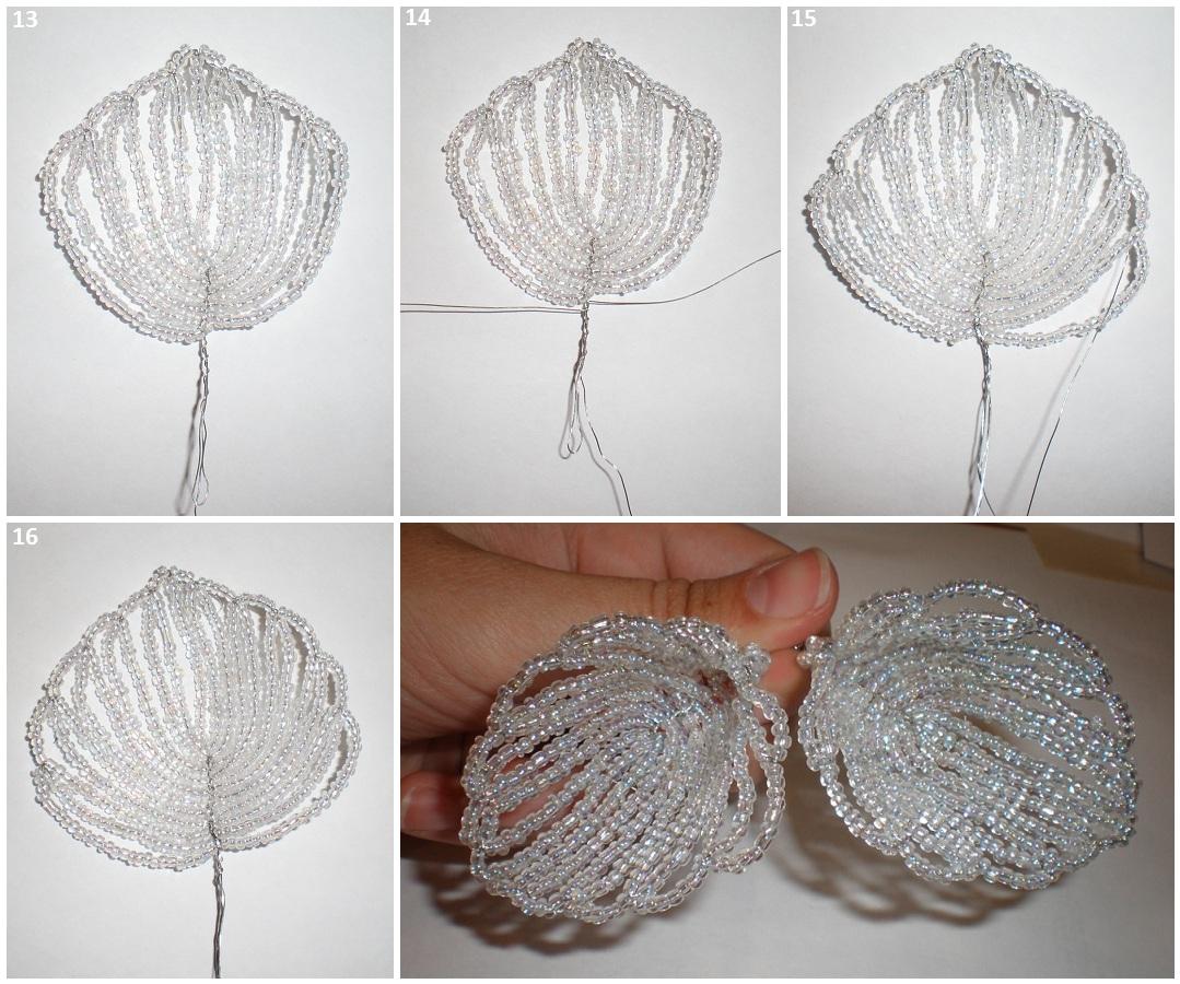 свадебные букеты из бисера схема плетения - Каталог изделий из бисера.