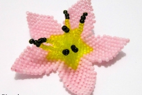 цветок на резинку