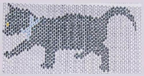 схема кошки из бисера